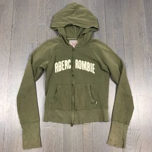 Abercrombie & Fitch Zip Up Track Jacket Hoodie